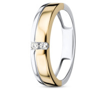 Ring aus 585 Bicolor-Gold mit 0.06 Karat Diamanten-54
