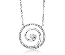 Halskette aus 375 Weißgold mit 0.15 Karat Diamanten