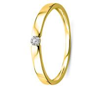 Ring aus 585 Gold mit 0.05 Karat Diamant-50
