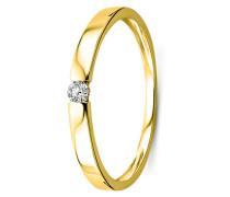 Ring aus 375 Gold mit 0.05 Karat Diamant-60