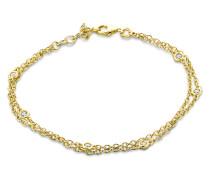 Armband aus vergoldetem 925 Sterling Silber mit Zirkonia