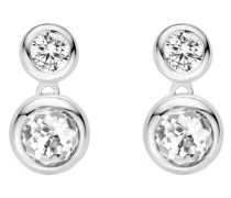 Ohrhänger aus 925 Sterling Silber mit Zirkonia