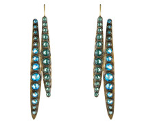 Ohrhänger Global Glam De Luxe aus Metall mit Glassteinen