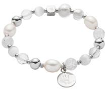 Leonardo Damen-Armband Edelstahl/Perle/Glas