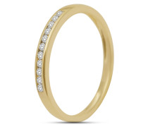 Ring aus 375 Gold mit 0.1 Karat Diamanten-50