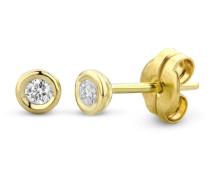 Ohrstecker aus 375 Gold mit 0.10 Karat Diamanten