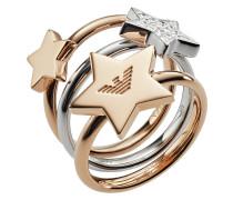 Emporio Armani Damen-Damenring 925er Silber Zirkon