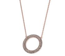 Halskette aus Edelstahl mit Kristallen