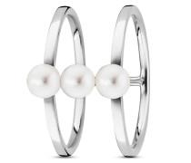 Ring Pure White aus 925 Sterling Silber mit Süßwasser-Zuchtperlen-50