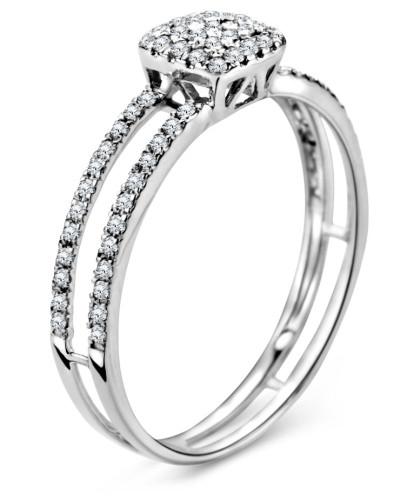 Ring aus 375 Weißgold mit 0.24 Karat Diamanten-54