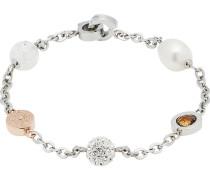 Leonardo Damen-Armband Edelstahl/Glas/Perle