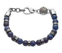 Armband Beads aus Edelstahl mit Sodalithen