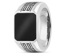Ring Black Meander aus 925 Sterling Silber mit Onyx-58