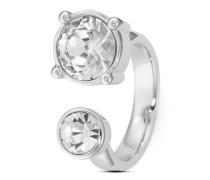Ring aus Edelstahl mit Kristallen-54