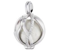 Kettenanhänger aus 925 Sterling Silber mit Zirkonia-21 mm