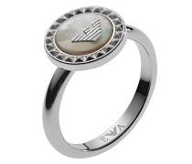 Emporio Armani Damen-Damenring 925er Silber 1 Perlmutt