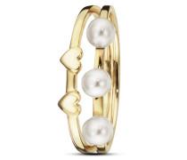 Ring Pearl Love aus vergoldetem 925 Sterling Silber mit Süßwasser-Zuchtperlen-50