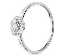 Ring aus 375 Weißgold mit 0.23 Karat Diamanten-52