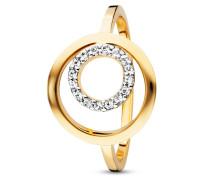 Ring Solar Orbit aus vergoldetem 925 Sterling Silber mit Topasen-50