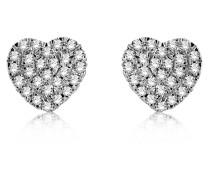 Ohrstecker aus 375 Weißgold mit 0.026 Karat Diamanten