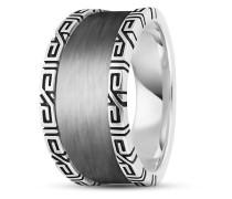 Ring Black Meander aus 925 Sterling Silber-58