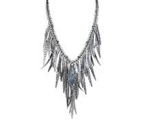 Halskette Global Glam aus Metall mit Glassteinen