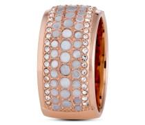 Ring aus Edelstahl & Perlmutt-56
