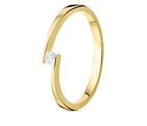 Ring aus 375 Gold mit 0.05 Karat Diamant-50