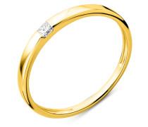 Ring aus 750 Gold mit 0.06 Karat Diamant-50