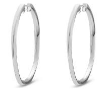 JETTE Silver Damen-Creole 925er Silber
