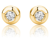 Ohrstecker aus 375 Gold mit 0.15 Karat Diamanten