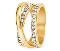 Ring aus Edelstahl mit Swarovski-Steinen-54
