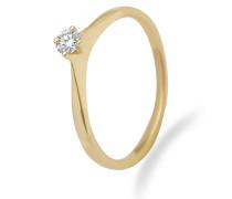 Ring aus 375 Gold mit 0.15 Karat Diamant-56