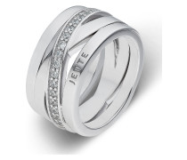JETTE Silver Damen-Damenring 925er Silber 40 Rund