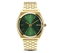 Quarzuhr Time Teller A045 1919-00 Gold / Green Sunray