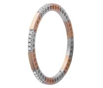Ring aus 375 Bicolor-Gold mit 0.09 Karat Diamanten