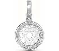 Kettenanhänger aus Sterling Silber mit 31 Zirkonia
