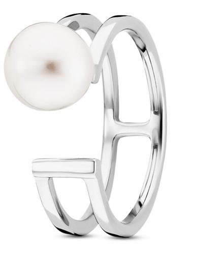 Ring Pure White aus 925 Sterling Silber mit Süßwasser-Zuchtperle-50