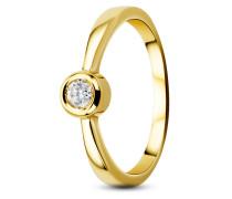 Ring aus 585 Gold mit 0.10 Karat Diamant-50