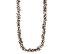 Halskette Inside Out aus Metall mit Glassteinen