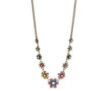 Halskette Mille Fleurs aus Metall mit Glassteinen