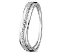 Ring aus 375 Weißgold mit 0.06 Karat Diamanten-52