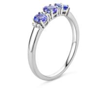 Ring aus 375 Weißgold mit 0.06 Karat Diamanten & Tansaniten-52