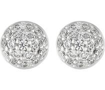 JETTE Silver Damen-Ohrstecker 925er Silber 36 Zirkonia