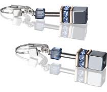 Coeur de Lion Damen-Ohrhänger Silber Hämatit