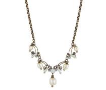 Halskette Fiancee mit Swarovski-Steinen & Kunstperlen
