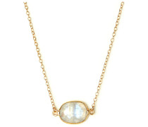 Koshikira Damen-Kette 925er Silber Silber/gold Mondstein