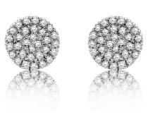 Ohrstecker aus 375 Weißgold mit 0.18 Karat Diamanten