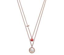Halskette aus Edelstahl & Perlmutt