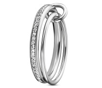 Ring Linked In 925 Sterling Silber mit Topasen-50